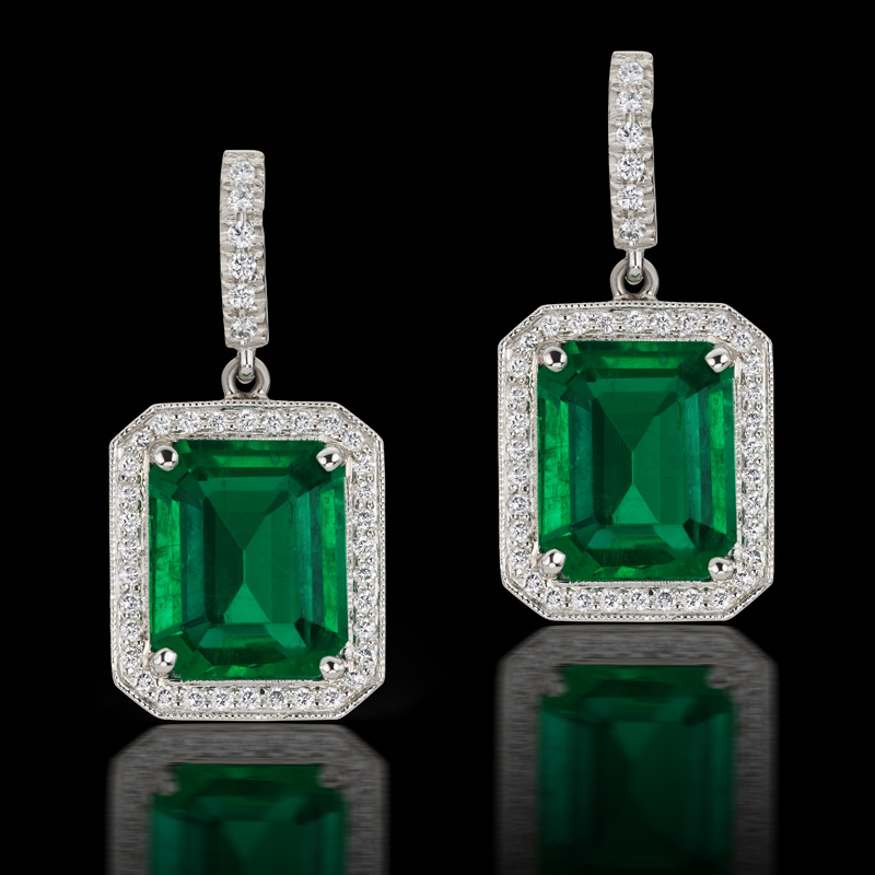 stone emerald strand halleh earrings products and drop pearl